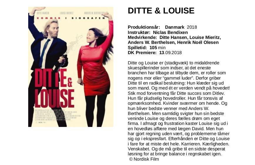 Ditte & Louise-tekst