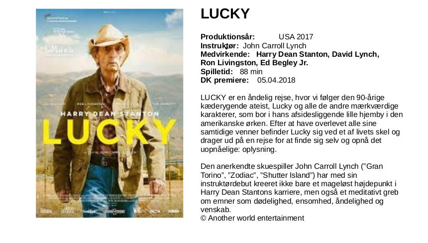 LUCKY-tekst